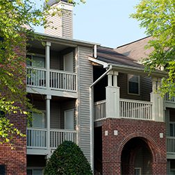 Bell Walker's Crossing apartments balcony