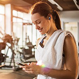 Woman at a gym